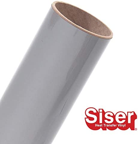 (Silver) - Siser EasyWeed Heat Transfer Vinyl HTV for T-Shirts 30cm by 7.6m Bulk Roll (Silver)