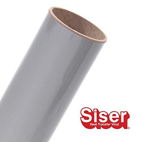 Siser EasyWeed HTV 11.8 x 3ft Roll - Iron on Heat Transfer Vinyl (Silver)