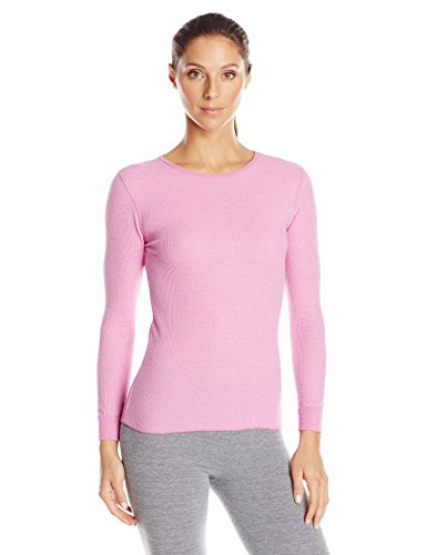 Sleeve Waffle Thermal - Fruit of the Loom Women's Waffle Thermal Underwear Top, Orchid Pizazz Heather, X-Small