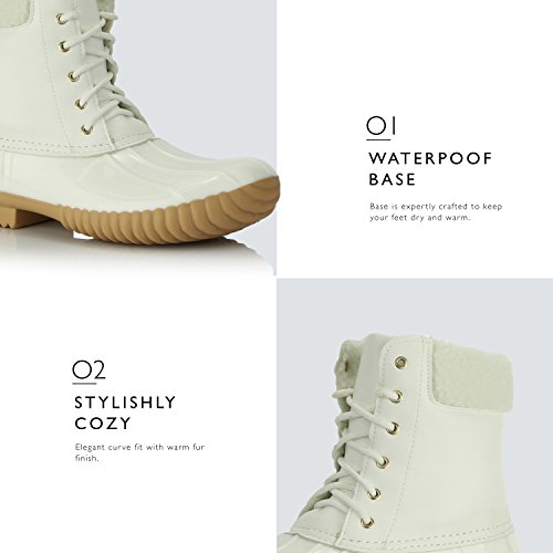 Padded High White Collar Duck Mud Cashmere Snow Rain Women's Ankle Warm Booties DailyShoes up Boots Rubber YpHvqFw