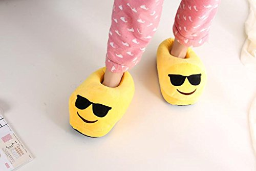 House Sunglasses Shoes Fluffy Slippers Emoji YINGGG Plush Unisex Bg0YXq