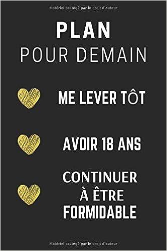 Plan Pour Demain 18 Ans: CarDe Notes, Journal Idée Cadeau d