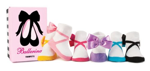 Trumpette Ballet Six Pack Baby Socks, Fits 0-12 months