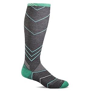 Sockwell Women's Incline Graduated Compression Socks, Charcoal, Medium/Large