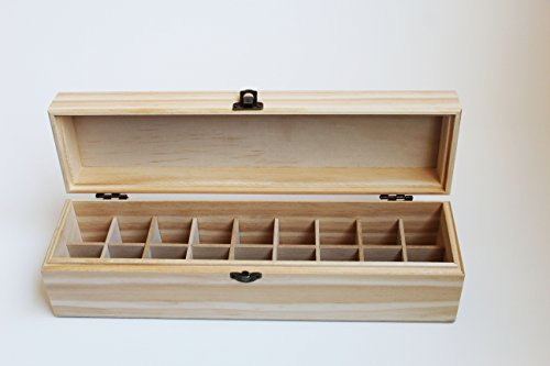 Essential Oil Storage Box - Compact Size Fits in Drawer - Capable of Holding 18 Bottles or Rollers