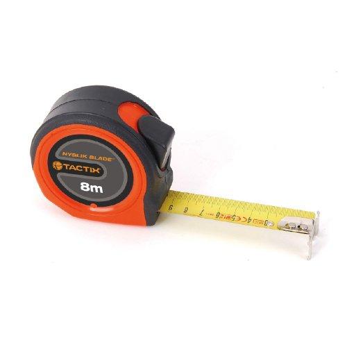 Industrial 26' Tool Box - Tactix 235365 Medium Tape Measure, 26-Feet by 1-Inch, Black/Orange