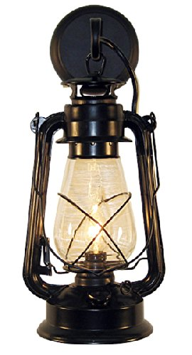 (Rustic Lantern Wall Mounted Light - Large Black by Muskoka Lifestyle Products)