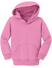 Precious Cargo Durable Toddler Pullover Hooded Sweatshirt_Candy Pink_4T