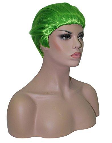[Anogol Hair Cap+ Green Men's Fancy Dress Costume Joker Wig Layered Wigs DM-584] (Wigs Au)