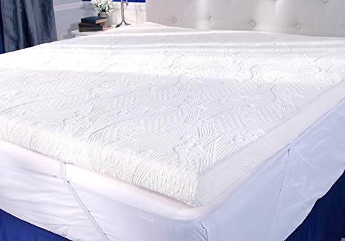 My Pillow Three-inch Mattress Bed Topper - By MyPillow (King) (Truck Work Bed)
