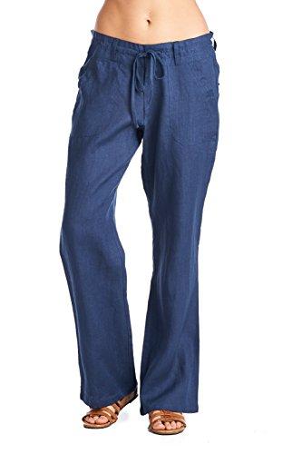 Womens Linen Pants - 4