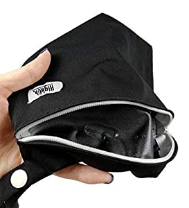 Highoh. Period Starter Kit | Washable Charcoal Bamboo Cloth Menstrual Pad | Bladder Support & Incontinence Pads | Reusable Sanitary Napkins | 6 Medium Flow Cloth Pads and 1 FREE Waterproof Wetbag
