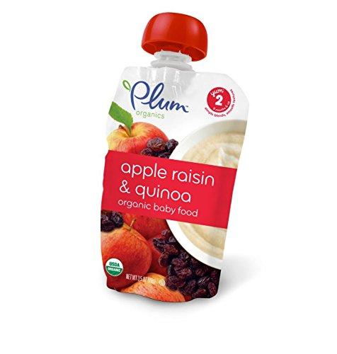 Plum Organics Stage 2, Organic Baby Food, Apple, Raisin and Quinoa, 3.5 oz