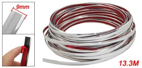 uxcell Silver Tone Chrome Moulding Trim Strip 15M x 10mm