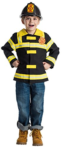 Boys Fire Chief Costume (Fire Chief Role Play Set Costume for Kids By Dress Up America - Ages 3-6)