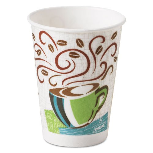 Dixie - PerfecTouch Hot Cups, Paper, 8 oz., Coffee Dreams Design, 50/Pack