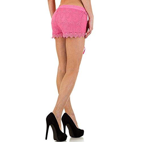 Hot Pants Spitzen Shorts Für Damen , Pink In Gr. S bei Ital-Design