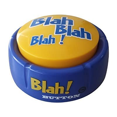 Blah Button - Talking Button Features 12 Blah Sayings - Talking Novelty Gift with Funny Sound Clips: Toys & Games