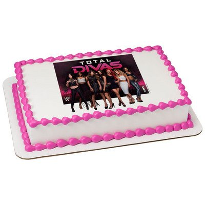 Amazon WWE Divas Licensed Edible Cake Topper 7494 Kitchen