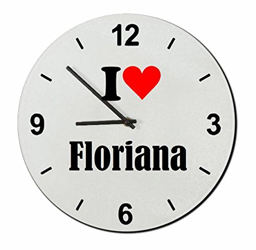 """Exclusive Gift Ideas: Glass Watch """"I Love Floriana"""" a Great"""