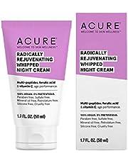 Acure Radically Rejuvenating Whipped Night Cream 100% Vegan Provides Anti-Aging Support Multi-Peptides, Ferulic Acid & Vitamin C - Hydrates & Rejuvenates, 1.7 fl Oz (ET1155)