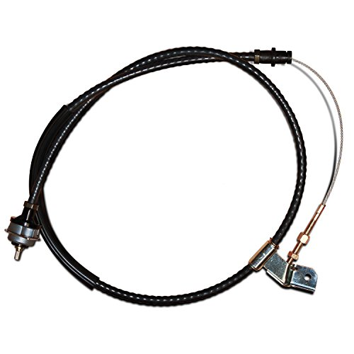 BBK 3517 Heavy Duty Adjustable Clutch Cable for Ford (Chrome Clutch Cable)