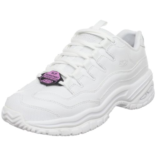 Skechers for Work Women's Energy-Sector Lace-Up,White,5 M US