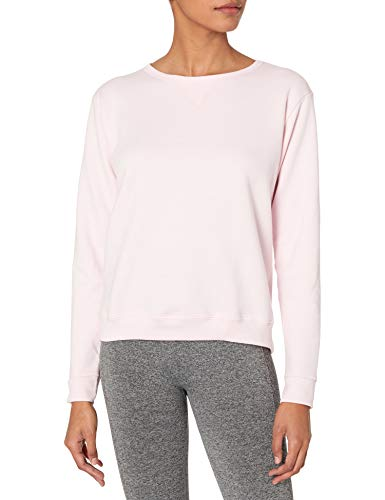 Hanes Women's V-Notch Pullover Fleece Sweatshirt, Pale Pink, XL (Woman Falls Out Of Plane And Lives)