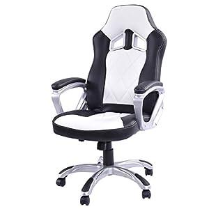 Giantex High Back Racing Style Bucket Seat Gaming Chair Swivel Office Desk Task