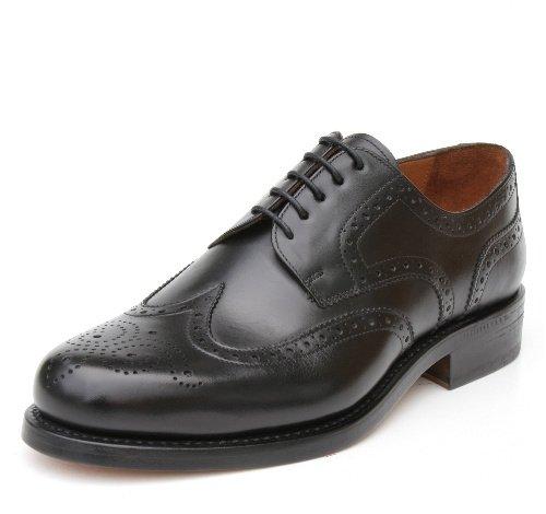 Prime Shoes Linz Marco cosido negro Box Calf Black budape ster con cordones (piel de ternero negro