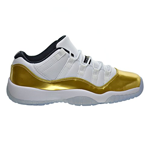 Jordan Air 11 Retro Low BG Big Kid's Shoes White/Metallic Gold/Black 528896-103 (5 M US) by Jordan