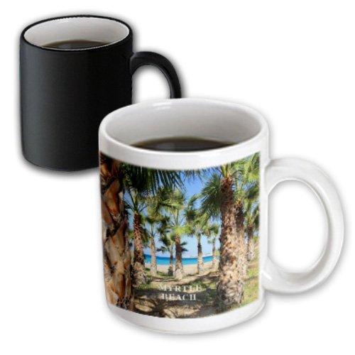 3dRose Palms Line Myrtle Beach South Carolina Magic Transforming Mug, - Beach South Outlets Carolina Myrtle