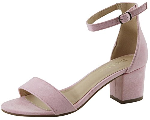 Bella Marie Women's Strappy Open Toe Block Heel Sandal