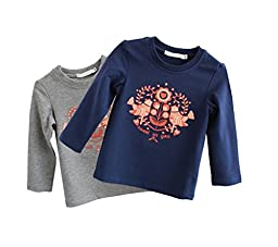 Justcosy Unisex-baby Trendy Cotton Long Sleeve Under Shirt S Blue