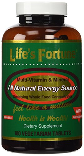 Life's Fortune Multivitamin & Mineral All Natural Energy Source Supplying