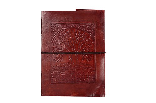 Handmade Large Embossed Leather Journal Celtic Tree Of Life blank personal Diary notebook refillable gift