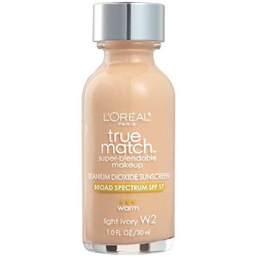 L'Oréal Paris True Match Super-Blendable Foundation Makeup, Light Ivory, 1 fl. oz.
