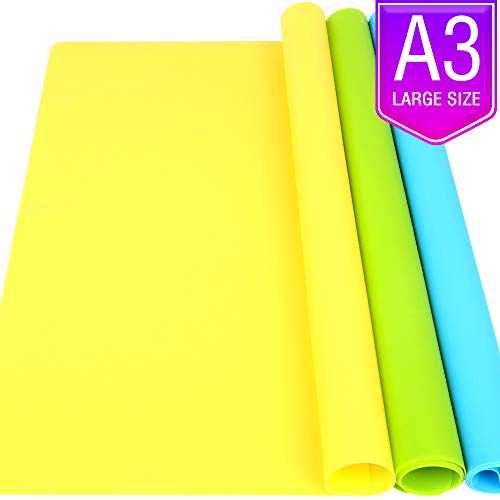 LEOBRO 3 Pack A3 Large Silicone Mats for Crafts, 15.7