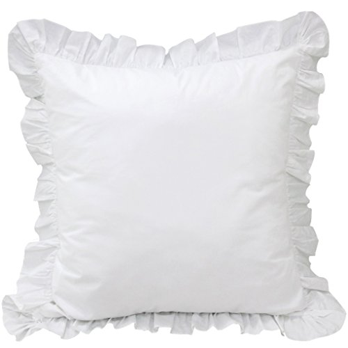 Queen's House 2-Piece White Euro Shams-B (Custom Shams Pillow)