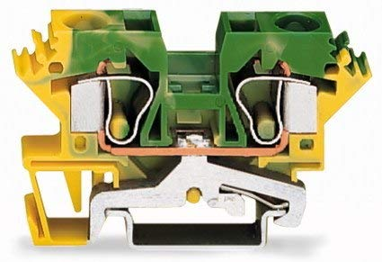 Wago 284-607 2-Conductor Ground Terminal Block: Amazon com
