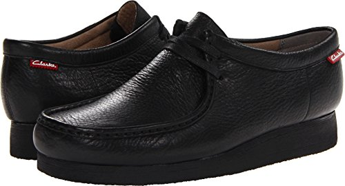 CLARKS Men's Stinson Lo,Black Leather,8 M (Clarks Wallabee Oxford)