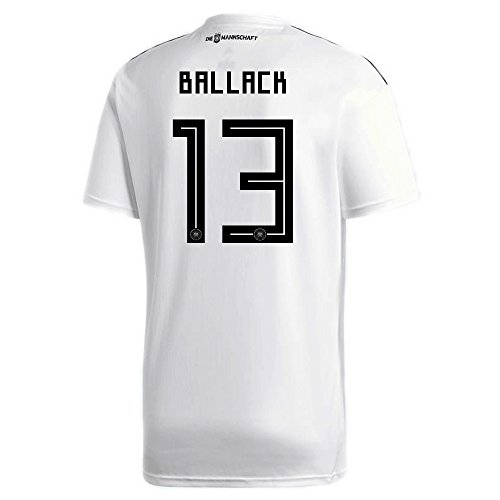adidas BALLACK #13 Germany Home Soccer Stadium Men's S/S Jersey World Cup Russia 2018 (XL)