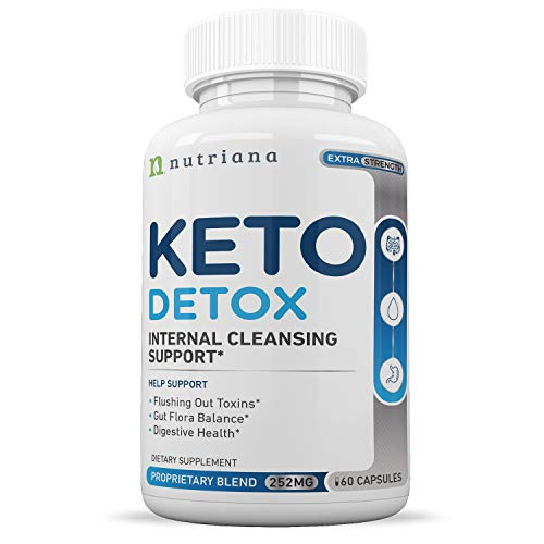 Best Keto Detox Cleanse Weight Loss Pills For Women and Men - Keto Colon Cleanser and Detox for Weight Loss - Ketogenic Diet Support to Boost Energy and Flush Toxins - 60 Count (Best Fiber Pill For Weight Loss)