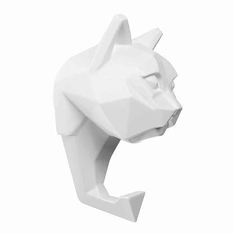 Antartidee Perchero de Pared Perchero Gato App Blanco Made ...