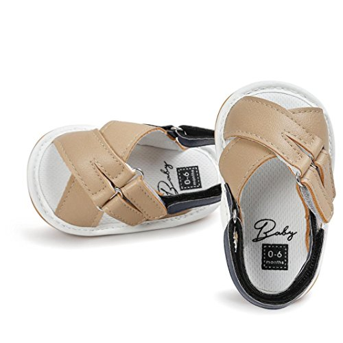 Igemy 1Paar Baby Jungen Mädchen Sandalen Casual Schuhe Sneaker Anti-Rutsch Soft Sole Kleinkind Khaki