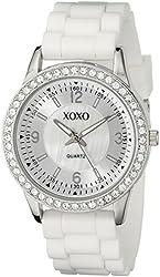 XOXO Women's XO8039 White Bumpy Silicone Rubber Strap Watch