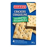 Krack O Pop Pemium Snacks - Crisp Saltines Crackers Unsalted Tops 340G (4 Individually Wrapped 85g Packs)