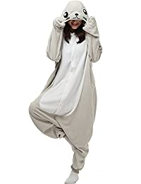 Dona Halloween Unisex Adult Pajamas Cosplay Costume Animal Onesie Sleepwear  Nightwear a87f857a9