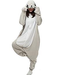 Dona Halloween Unisex Adult Pajamas Cosplay Costume Animal Onesie Sleepwear  Nightwear a87f857a9