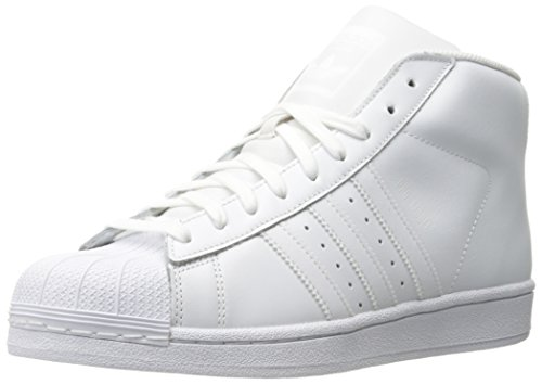 adidas Originals Men's Shoes | Pro Model-m Sneakers, White/White/White, (11 M - Model Mens Top